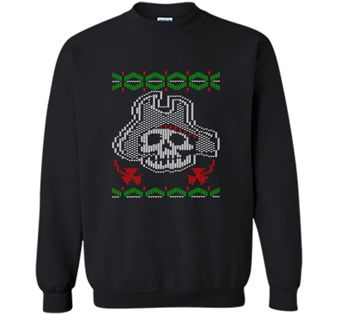 Pirate Christmas Ugly Sweater T-Shirt Black / Small Crewneck Pullover Sweatshirt 8 oz - PresentTees