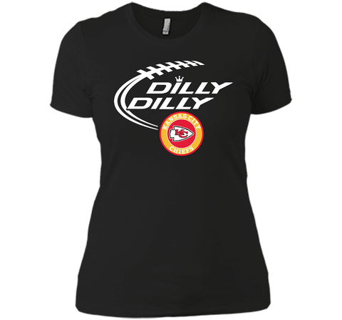 DILLY DILLY Kansas city Chiefs shirt Black / Small Next Level Ladies Boyfriend Tee - PresentTees