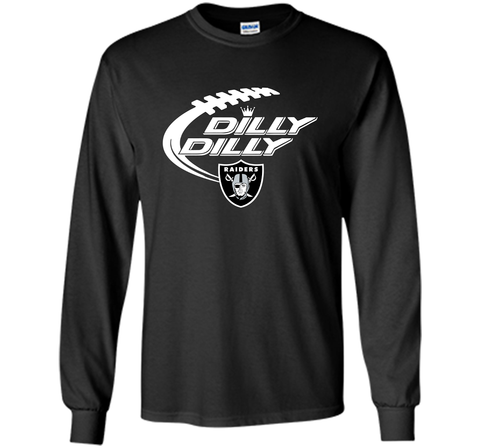 Oakland Raiders Dilly Dilly T Shirt OAK NFL Football Gift for Fans Black / Small LS Ultra Cotton TShirt - PresentTees