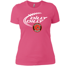 DILLY DILLY Cleverlan Browns shirt Next Level Ladies Boyfriend Tee - PresentTees