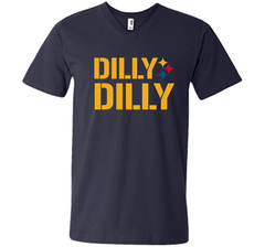 DILLY DILLY LOGO STEELERS Men Printed V-Neck Tee - PresentTees