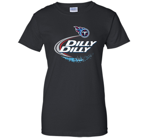 Tennessee Titans Dilly Dilly T-Shirt NFL Football Gift for Fans Black / Small Ladies Custom - PresentTees
