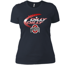 Dilly Dilly Ohio State Buckeyes T-Shirt Ohio State Dilly Dilly Bud Light Shirts Next Level Ladies Boyfriend Tee - PresentTees