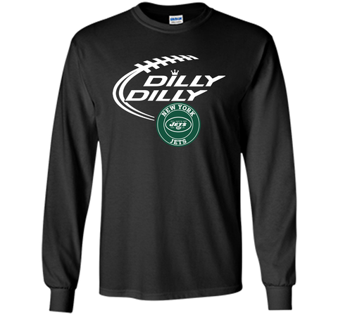 DILLY DILLY New York Jets shirt Black / Small LS Ultra Cotton TShirt - PresentTees