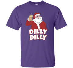 Christmas Santa Claus Dilly Dilly Shirt Gift 4 Beer T Shirt Custom Ultra Cotton Tshirt - PresentTees