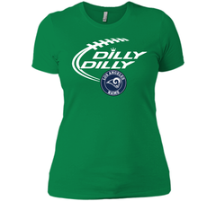 DILLY DILLY  Los Angeles Rams shirt Next Level Ladies Boyfriend Tee - PresentTees