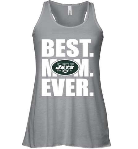 Best New York Jets Mom Ever NFL Team Mother's Day Gift Women's Racerback Tank