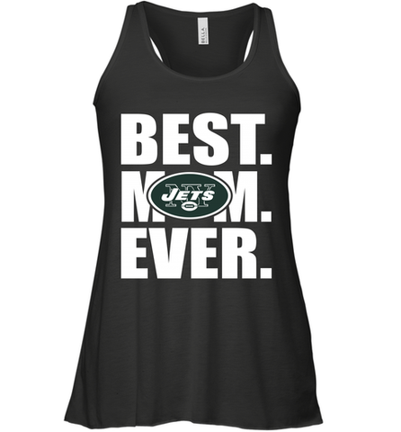 Best New York Jets Mom Ever NFL Team Mother's Day Gift Women's Racerback Tank Women's Racerback Tank / Black / XS Women's Racerback Tank - PresentTees