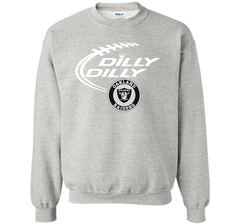 DILLY DILLY Oakland Raiders shirt Crewneck Pullover Sweatshirt 8 oz - PresentTees