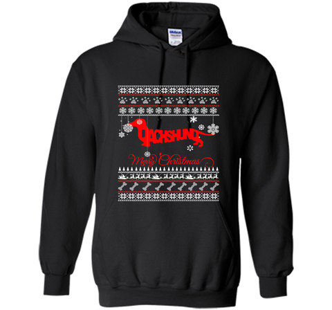 Merry Christmas Dachshund Dog Lover Gift T-Shirt Black / Small Pullover Hoodie 8 oz - PresentTees