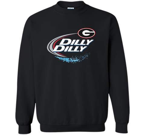 Dilly Dilly Georgia Bulldogs T-Shirt Georgia Bulldog Football Gift for Fans Black / Small Crewneck Pullover Sweatshirt 8 oz - PresentTees
