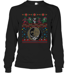 New Orleans Saints Christmas Grateful Dead Jingle Bears Football Ugly Sweatshirt Adult Unisex Long Sleeve T-Shirt