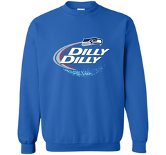Seattle Seahawks SEA Dilly Dilly Bud Light T Shirt SEA NFL Football Gift for Fans Crewneck Pullover Sweatshirt 8 oz - PresentTees