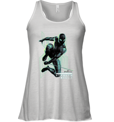 Marvel Spider Man Far From Home Stealth Suit Swing Poster Women's Tank Top