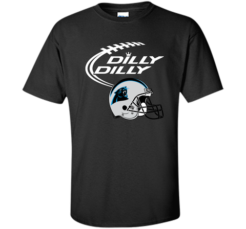 DILLY DILLY Carolina Panthers NFL Team Logo Black / Small Custom Ultra Cotton Tshirt - PresentTees