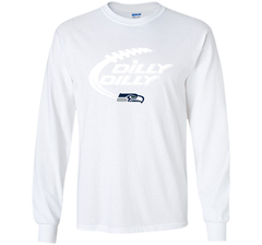 Seattle Seahawks Dilly Dilly Bud Light T Shirt SEA NFL Football Gift for Fans LS Ultra Cotton TShirt - PresentTees