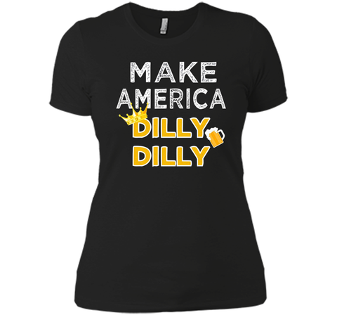 Make America Dilly Dilly Friend of the Crown Beer T Shirt Black / Small Next Level Ladies Boyfriend Tee - PresentTees