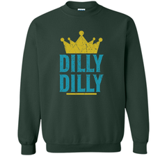 Dilly Dilly A True friend of the crown King T Shirt Crewneck Pullover Sweatshirt 8 oz - PresentTees