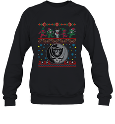 Oakland Raiders Christmas Grateful Dead Jingle Bears Football Ugly Sweatshirt Adult Unisex Crewneck Sweatshirt