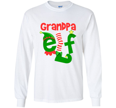 Grandpa Elf - T-Shirt Christmas Family Matching Pajamas Gift LS Ultra Cotton TShirt - PresentTees