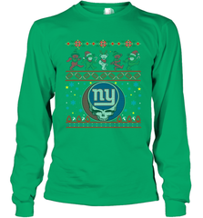New York Giants Christmas Grateful Dead Jingle Bears Football Ugly Sweatshirt Adult Unisex Long Sleeve T-Shirt Adult Unisex Long Sleeve T-Shirt - PresentTees