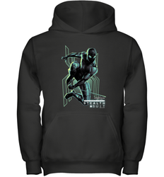 Marvel Spider Man Far From Home Stealth Suit Swing Poster Youth Hooded Sweatshirt