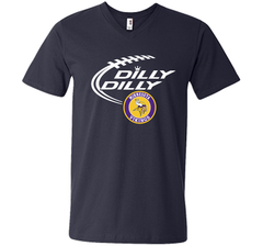 DILLY DILLY Minnesota Vikings shirt Men Printed V-Neck Tee - PresentTees