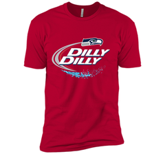 Seattle Seahawks SEA Dilly Dilly Bud Light T Shirt SEA NFL Football Gift for Fans Next Level Premium Short Sleeve Tee - PresentTees