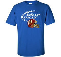 DILLY DILLY Washington Redskins NFL Team Logo Custom Ultra Cotton Tshirt - PresentTees