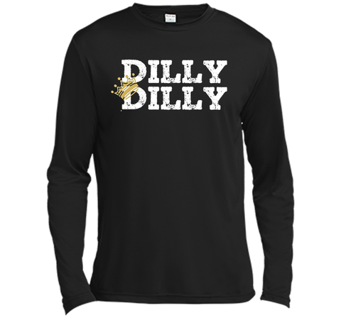 Bud Light Dilly Dilly Crown T Shirt Black / Small LS Moisture Absorbing Shirt - PresentTees