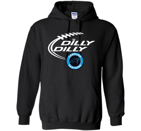DILLY DILLY Carolina Panthers shirt Black / Small Pullover Hoodie 8 oz - PresentTees