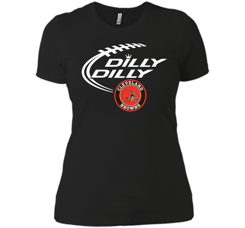 DILLY DILLY Cleverlan Browns shirt Black / Small Next Level Ladies Boyfriend Tee - PresentTees