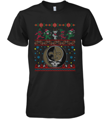New Orleans Saints Christmas Grateful Dead Jingle Bears Football Ugly Sweatshirt Mens Premium T-Shirt Mens Premium T-Shirt - PresentTees