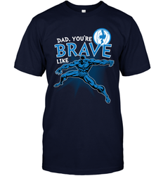 Marvel Black Panther Brave Dad Father's Day Gifts Men's T-Shirt