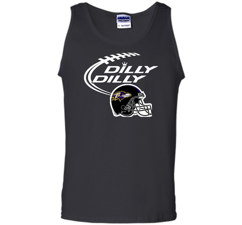 Dilly Dilly Baltimore Ravens Logo American Football Team Bud Light Christmas T-Shirt Black / Small Tank Top - PresentTees