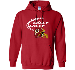 DILLY DILLY Washington Redskins NFL Team Logo Pullover Hoodie 8 oz - PresentTees