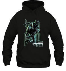 Marvel Spider Man Far From Home Stealth Suit Swing Poster Hooded Sweatshirt