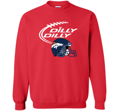 DILLY DILLY Denver Broncos NFL Team Logo Crewneck Pullover Sweatshirt 8 oz - PresentTees