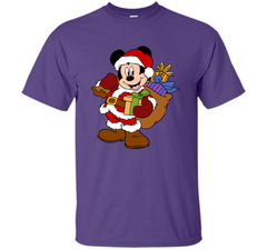 Disney Santa Mickey Mouse Christmas gifts Custom Ultra Cotton Tshirt - PresentTees