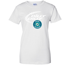 DILLY DILLY Miami dolphins shirt Ladies Custom - PresentTees