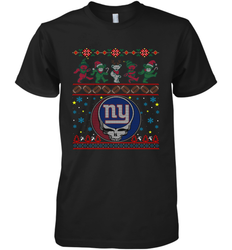 New York Giants Christmas Grateful Dead Jingle Bears Football Ugly Sweatshirt Mens Premium T-Shirt