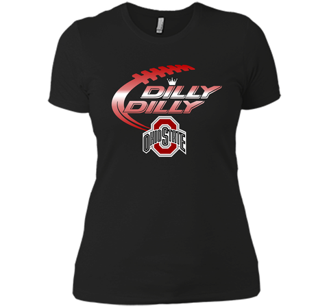 Dilly Dilly Ohio State Buckeyes T-Shirt Ohio State Dilly Dilly Bud Light Shirts Black / Small Next Level Ladies Boyfriend Tee - PresentTees