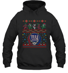 New York Giants Christmas Grateful Dead Jingle Bears Football Ugly Sweatshirt Adult Unisex Hoodie Sweatshirt