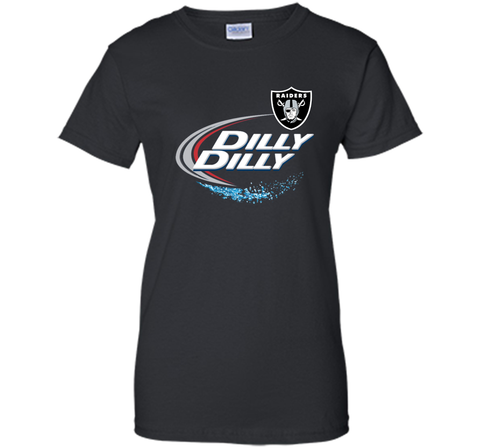 Oakland Raiders Dilly Dilly T-Shirt OAK NFL Football Gift for Fans Black / Small Ladies Custom - PresentTees