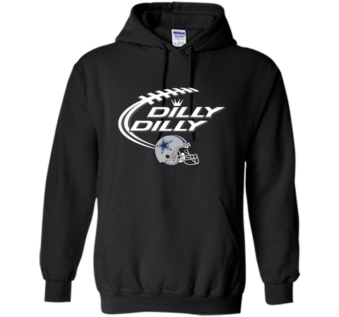 Dilly Dilly Dallas Cowboy Logo American Football Team Bud Light Christmas T-Shirt Black / Small Pullover Hoodie 8 oz - PresentTees