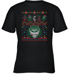 New York Jets Christmas Grateful Dead Jingle Bears Football Ugly Sweatshirt Kids Unisex T-Shirt