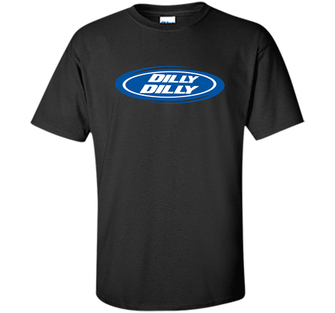Bud Light Dilly Dilly Oval Blue Shirt Black / Small Custom Ultra Cotton Tshirt - PresentTees