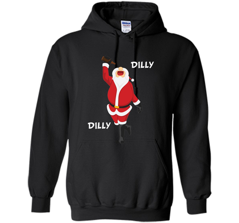 Dilly Dilly Christmas Santa Get Lit T Shirt Black / Small Pullover Hoodie 8 oz - PresentTees