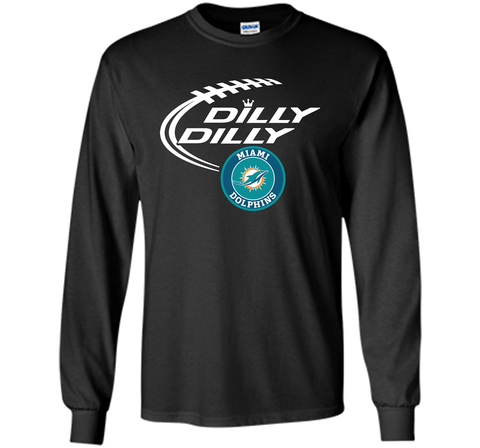 DILLY DILLY Miami dolphins shirt Black / Small LS Ultra Cotton TShirt - PresentTees