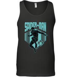 Marvel Spider Man Far From Home Stealth Suit Silhouette Men's Tank Top